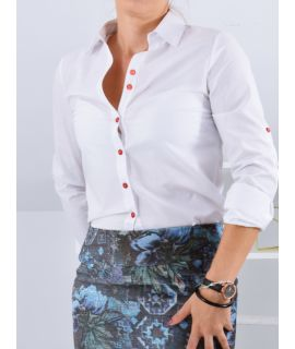 Klasyczna bluzka biała...